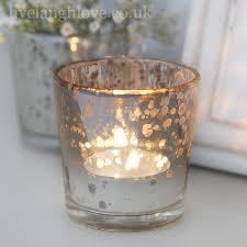 mercury tea light holders aged glass silver tea light holder live laugh love