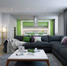 Grey And Lime Curtains Living Room Lime Green Acent Wall Also White Modern Kitcen Cabinet