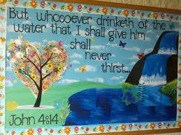 sunday school bulletin board decorating religious bulletin