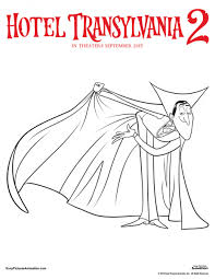 dracula hotel transylvania 2 coloring page coloring pages