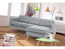 conforama fr canapé canapé d angle fixe 4 places yonis coloris gris pas cher c est