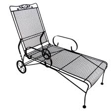 Chaise Lounge Chair Patio Arlington House Glenbrook Black Patio Chaise Lounge 7871500