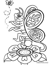 smiling butterfly coloring pages hellokids com