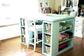 large scrapbook crafting desk with storage craft desk with storage folding craft