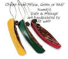 buy wood canoe ornament personalized ornament from a large