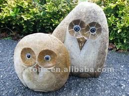 garden ornaments river mini owl carvings carved chest shop