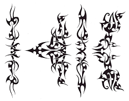 black tribal armband design
