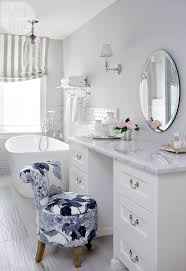 Glam Bathroom Ideas All White Glam Eclectic Glamorous Bathroom Makeup Vanity Decor