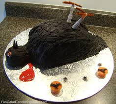 fun cake decorating ideas holiday cakes halloween bird cake