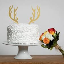 antler cake topper funkylaser a selection of laser cut cake toppers to glam up your