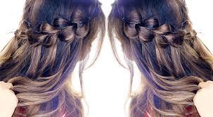 pull through waterfall braid hairstyle easy hairstyles