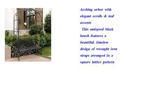 arbor bench plans mandalay iron patio arbor bench in antique black youtube