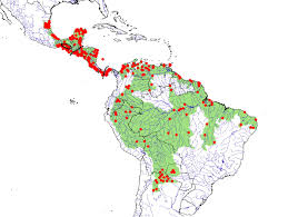 Map Of Mexico And Central America And South America by Tortoise And Freshwater Turtle Specialist Group