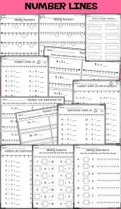 Number Line Subtraction Worksheets 37 Best Számegyenes Images On Pinterest Maths Number Lines And