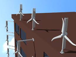 Small Wind Turbines For Home - small wind turbines mounted to existing structures