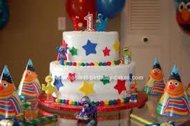 cool homemade sesame street 1st birthday cake