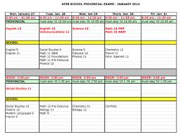 provincial exams u2013 student services