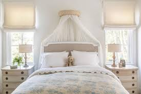 Gray Linen Headboard French Gray Linen Bed With Sheer Canopy Curtains French Bedroom