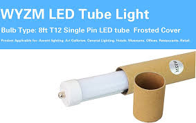 8 Foot Led Tube Lights 4 Pack 40w T12 96
