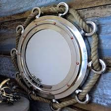 porthole mirrored medicine cabinet port hole mirror large nautical nickel finish porthole mirror