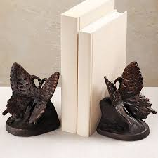 Butterfly Desk Accessories Cast Iron Butterfly Bookends Book Ends Pinterest Iron Desk