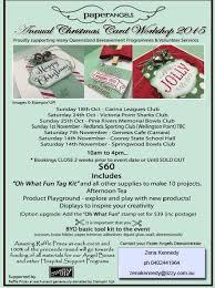 charity christmas card workshops stampin u0027 up australia