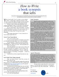 How To Make A Book Report Example How To Write A Book Synopsis That Sells Adman