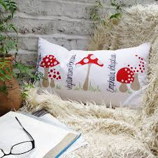 Cushions 50cm X 50cm Made Up Mushrooms Cushion Cover By Bean Ink Notonthehighstreet Com