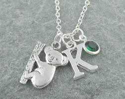 silver necklace australia images Koala necklace etsy jpg