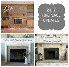 How To Whitewash Interior Brick How To Paint A Brick Fireplace Infarrantly Creative