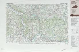 Missouri Illinois Map by Paducah Topographic Maps Il Mo Ky In Usgs Topo Quad 37088a1