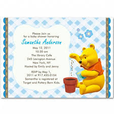 winnie the pooh baby shower the pooh baby boy shower invitations bs105