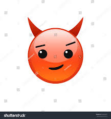 small halloween emoticons transparent background red smiling devil vector emoticon smirking stock vector 663362923