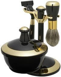 amazon com shaving gift set with badger brush stand soap bowl