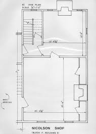 Shop Building Floor Plans Prentis Store Margaret Hunter Shop Nicolson Shop Taliaferro