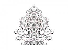 Christmas Ornament Clipart Black White