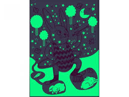 glow in the dark poster bunny glow in the dark poster by omy buy now