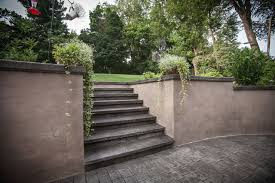 Retaining Wall Patio Stamped Concrete Patio Retaining Wall And Steps In Lancaster Pa