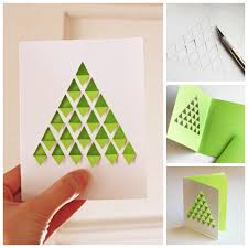 creative ideas diy geometric christmas tree card