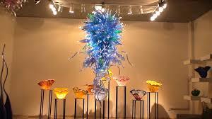 Blown Glass Chandeliers Sale Blue Blown Glass Chandelier