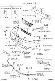 1996 toyota corolla front bumper toyota corollazze122r gepnkn front bumper bumper stay