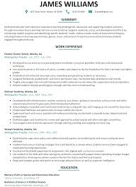 Teachers Resume Example Kindergarten Teacher Resume Examples Resume For Your Job Application