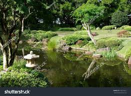 japanese garden design water pond stock photo 619277027 shutterstock
