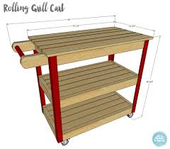 diy grill table plans how to build a rolling grill cart grill table butcher blocks and