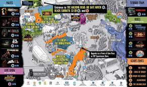 tripadvisor halloween horror nights halloween horror nights 2016 map thraam com