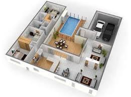 modern floor plan 3d floor plans modern floor plan home design