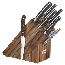 cool knife block wusthof 8 piece walnut knife block set so that s cool