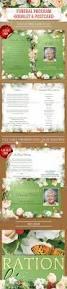 Funeral Program Samples Funeral Program Template Booklet U0026 Postcard By Masterflyer