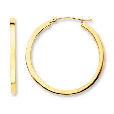 gold hoop earrings jared hoop earrings 14k yellow gold 30mm