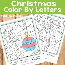 color by letter ornaments and gingerbread trail